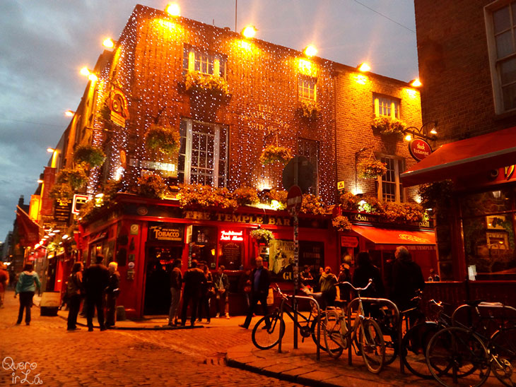 Temple Bar em Dublin, capital da Irlanda